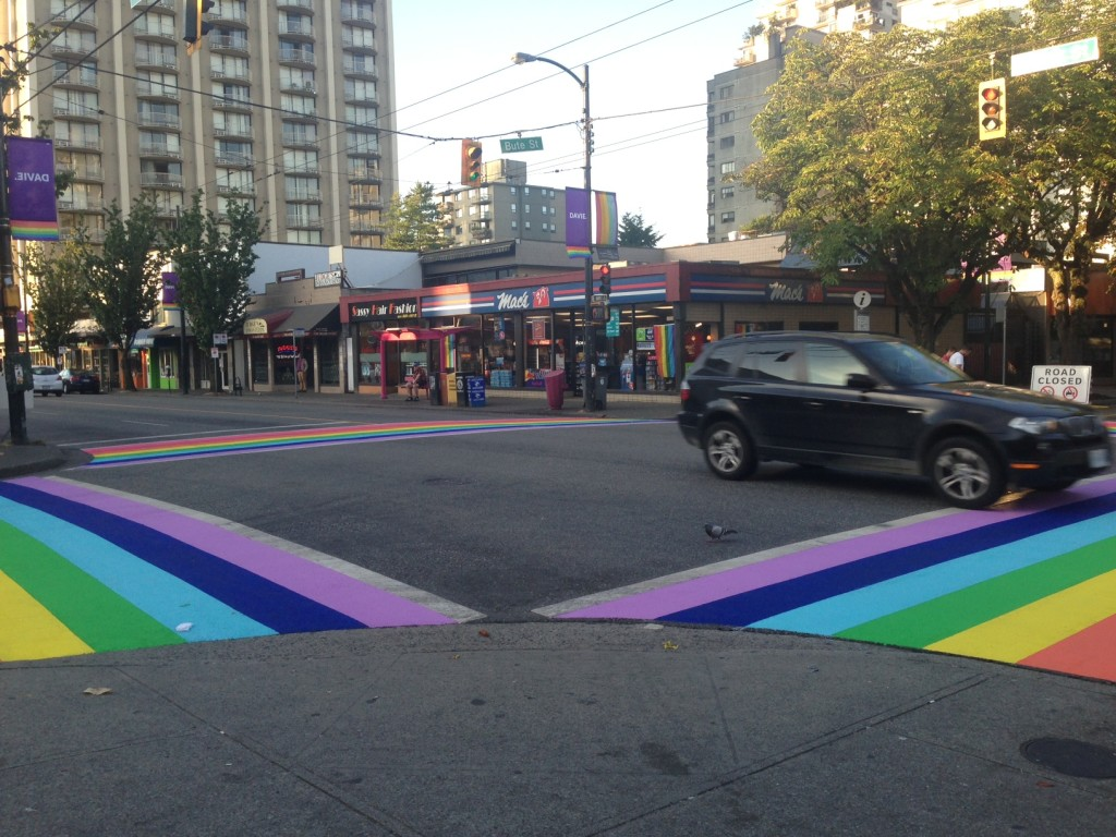 Images: http://www.vancitybuzz.com/2013/07/rainbow-crosswalk-vancouver-painted/